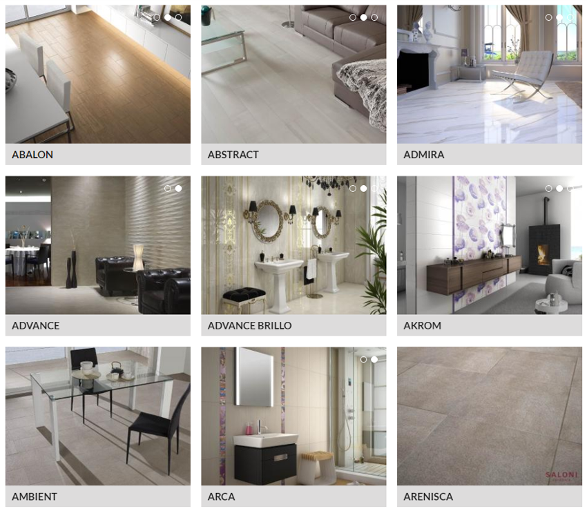 Saloni Tile Ranges - See Product Catalogue for More Details - image